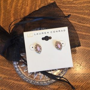 Delicate pink and crystal earrings, NWT